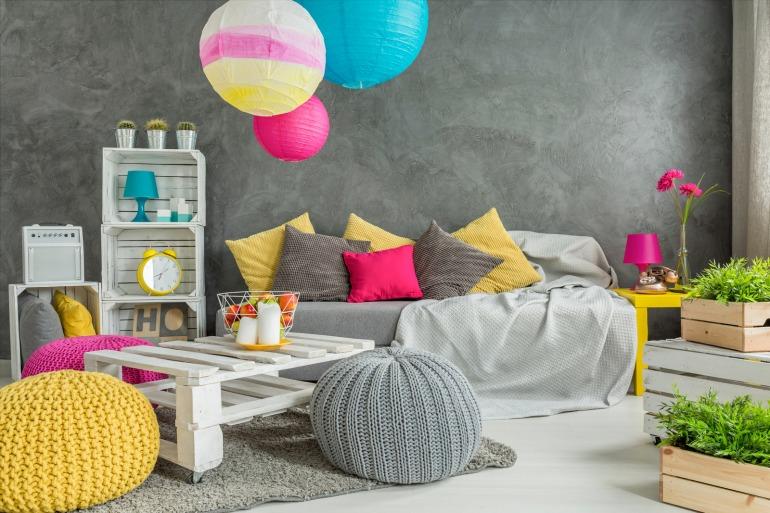 Living room full of positive energy